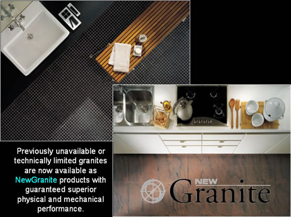 Previously unavailable or technically limited granites are now available as NewGranite products with guaranteed superior physical and mechanical performance.